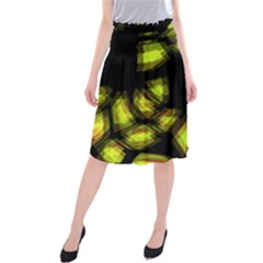 Yellow light Midi Beach Skirt