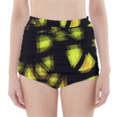 Yellow light High-Waisted Bikini Bottoms