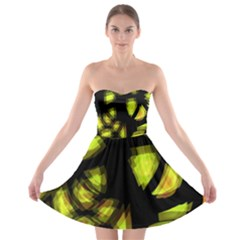 Yellow light Strapless Bra Top Dress