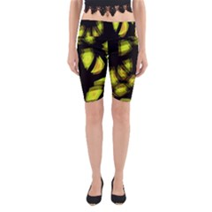Yellow light Yoga Cropped Leggings