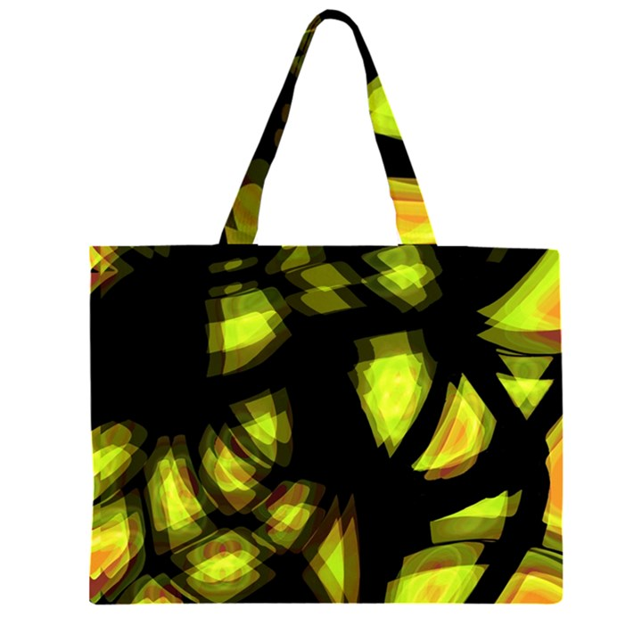 Yellow light Large Tote Bag