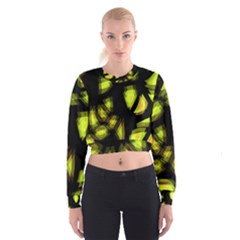 Yellow light Women s Cropped Sweatshirt