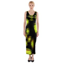 Yellow light Fitted Maxi Dress