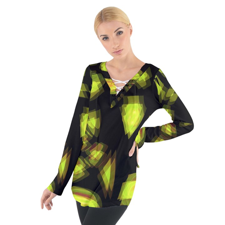 Yellow light Women s Tie Up Tee