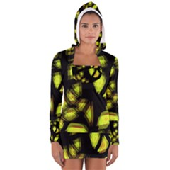 Yellow light Women s Long Sleeve Hooded T-shirt