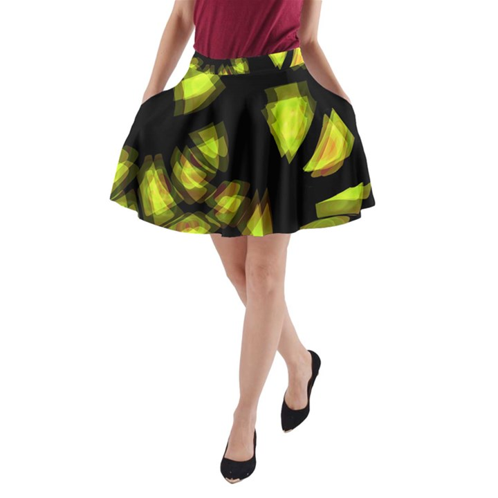 Yellow light A-Line Pocket Skirt