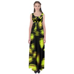 Yellow light Empire Waist Maxi Dress