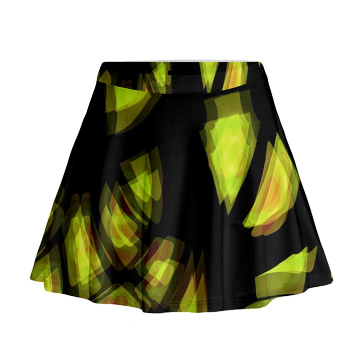 Yellow light Mini Flare Skirt