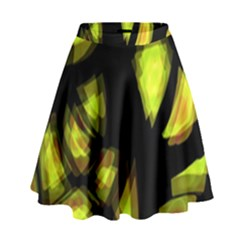 Yellow Light High Waist Skirt