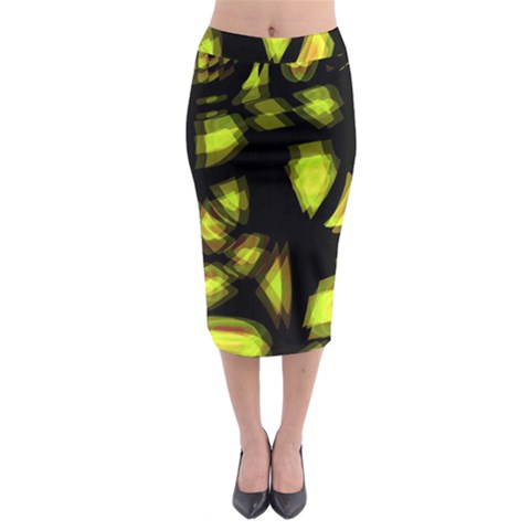 Yellow light Midi Pencil Skirt