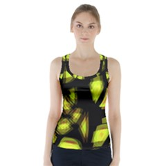 Yellow light Racer Back Sports Top
