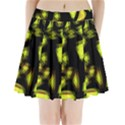 Yellow light Pleated Mini Skirt View1