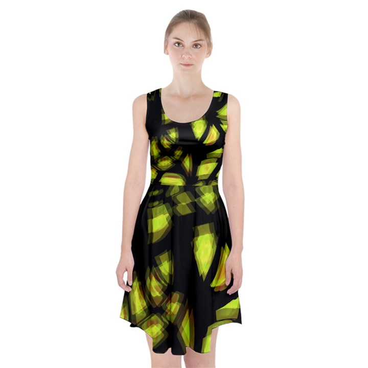 Yellow light Racerback Midi Dress