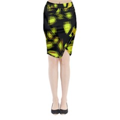 Yellow light Midi Wrap Pencil Skirt
