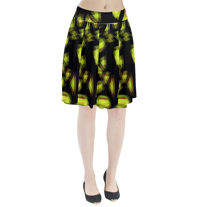 Yellow light Pleated Skirt