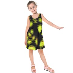 Yellow light Kids  Sleeveless Dress