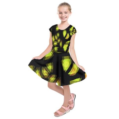 Yellow light Kids  Short Sleeve Dress