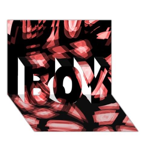 Red light BOY 3D Greeting Card (7x5)