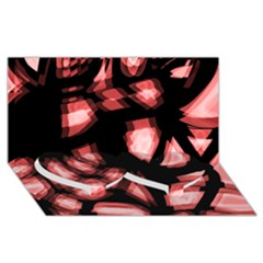 Red light Twin Heart Bottom 3D Greeting Card (8x4)