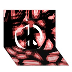 Red light Peace Sign 3D Greeting Card (7x5)
