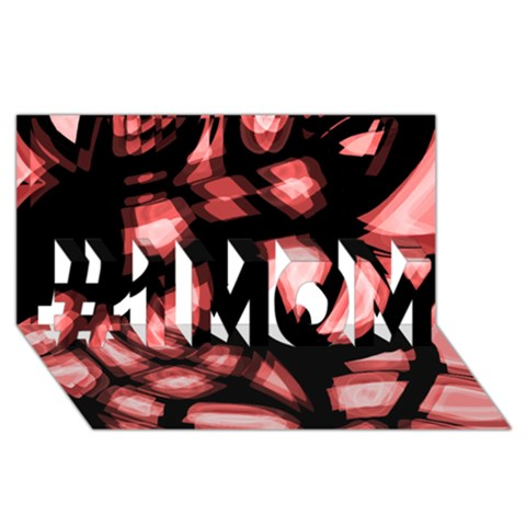 Red light #1 MOM 3D Greeting Cards (8x4)