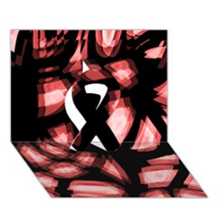 Red Light Ribbon 3d Greeting Card (7x5)