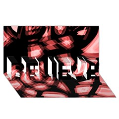 Red light BELIEVE 3D Greeting Card (8x4)