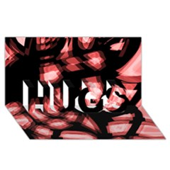 Red light HUGS 3D Greeting Card (8x4)
