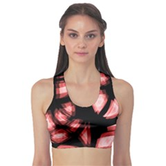 Red light Sports Bra