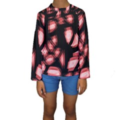 Red light Kids  Long Sleeve Swimwear