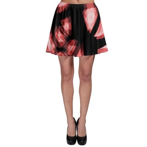 Red light Skater Skirt