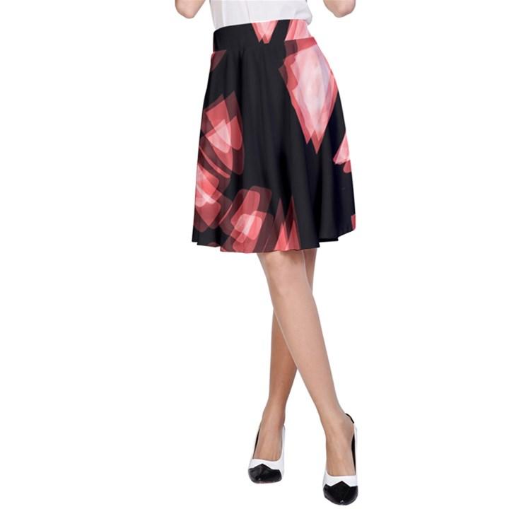 Red light A-Line Skirt