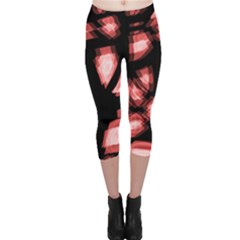 Red light Capri Leggings