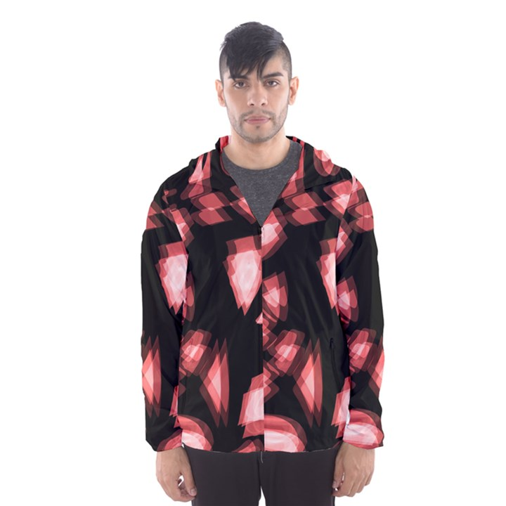 Red light Hooded Wind Breaker (Men)