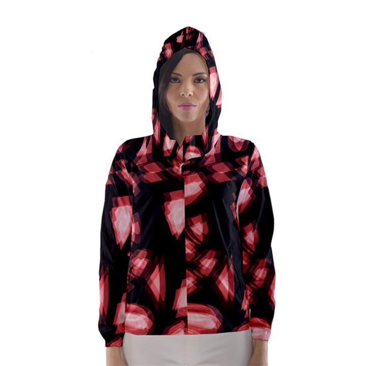 Red light Hooded Wind Breaker (Women)