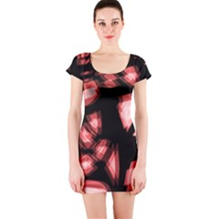 Red light Short Sleeve Bodycon Dress