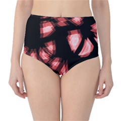 Red light High-Waist Bikini Bottoms