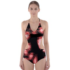 Red light Cut-Out One Piece Swimsuit