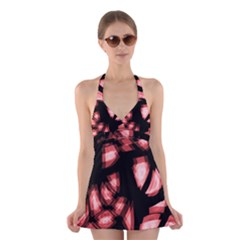 Red light Halter Swimsuit Dress