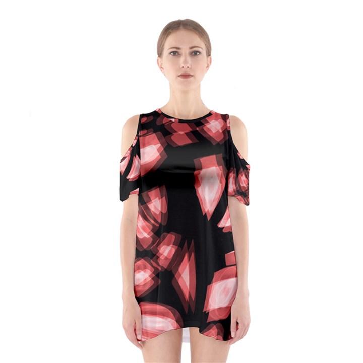 Red light Cutout Shoulder Dress