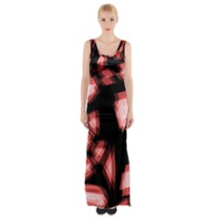 Red light Maxi Thigh Split Dress
