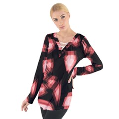 Red light Women s Tie Up Tee