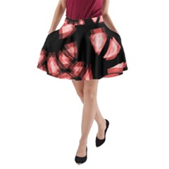Red light A-Line Pocket Skirt