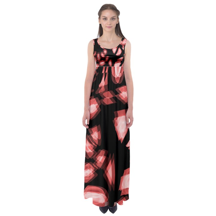 Red light Empire Waist Maxi Dress
