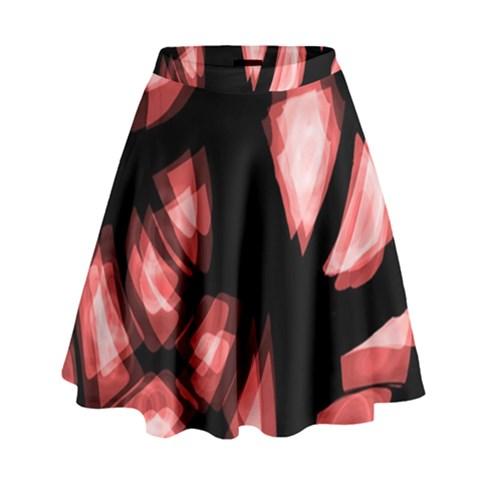 Red light High Waist Skirt