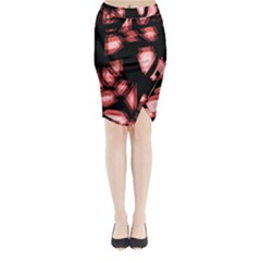 Red light Midi Wrap Pencil Skirt