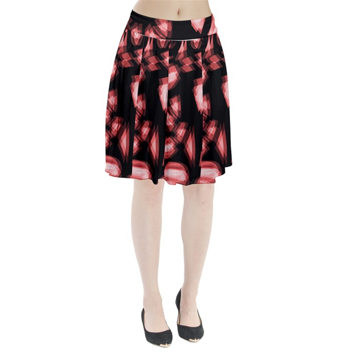 Red light Pleated Skirt