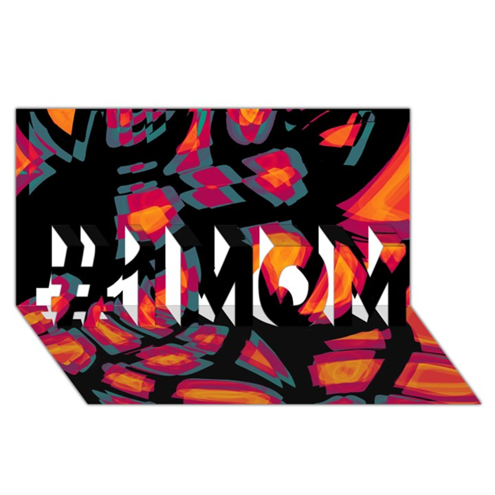 Hot, hot, hot #1 MOM 3D Greeting Cards (8x4)
