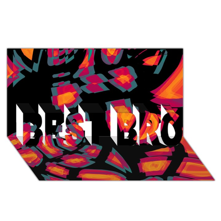 Hot, hot, hot BEST BRO 3D Greeting Card (8x4)