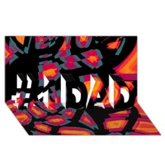 Hot, Hot, Hot #1 Dad 3d Greeting Card (8x4)